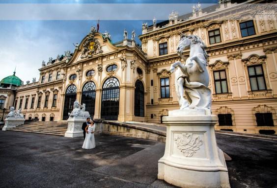 Fotografie miri - Castelul Belvedere, Viena